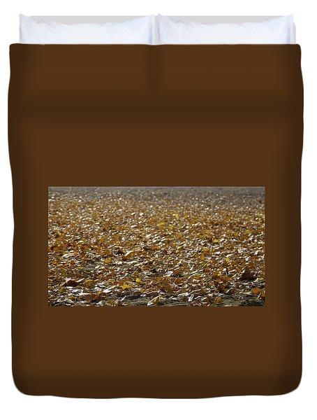 Beach Of Autumn Leaves Duvet Cover