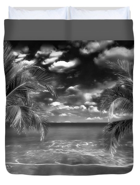 Duvet Cover featuring the mixed media Beach Of Forgotten Colours by Gabriella Weninger - David