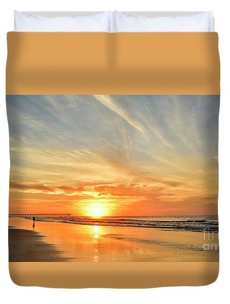 Beach Of Gold Duvet Cover