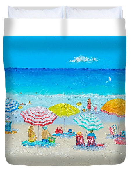 Beach Painting - Catching The Breeze Duvet Cover