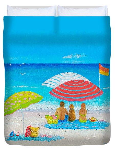 Beach Painting - Endless Summer Days Duvet Cover