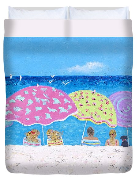 Beach Painting - Lazy Summer Days Duvet Cover
