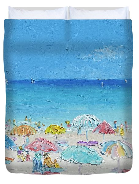 Beach Painting - Summer Paradise Duvet Cover