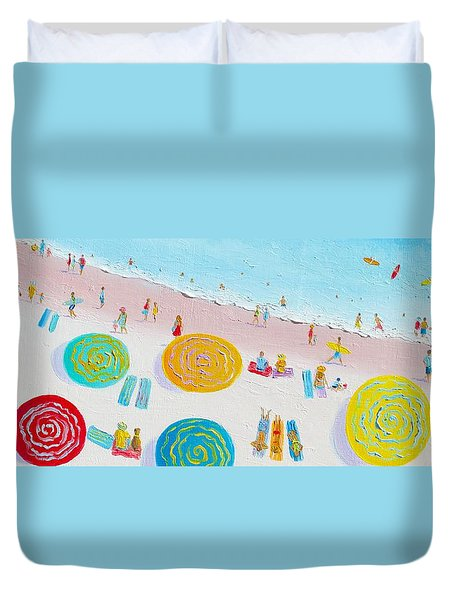 Beach Painting - The Simple Life Duvet Cover