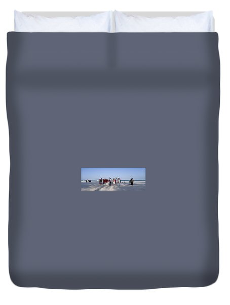 Beach Panoramic Wedding  Duvet Cover