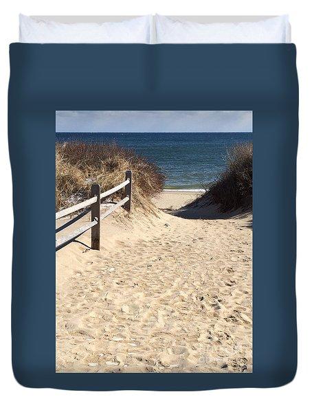 Beach Path Duvet Cover by Jim Gillen