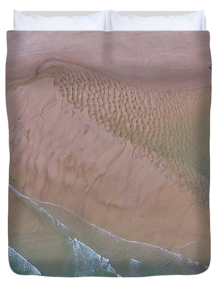 Beach Patterns At North Point On Moreton Island Duvet Cover