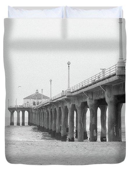 Beach Pier Film Frame Duvet Cover