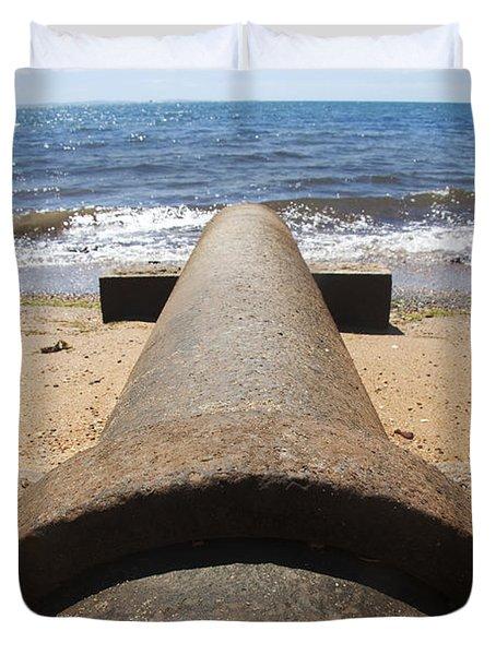 Beach Pipeline Duvet Cover