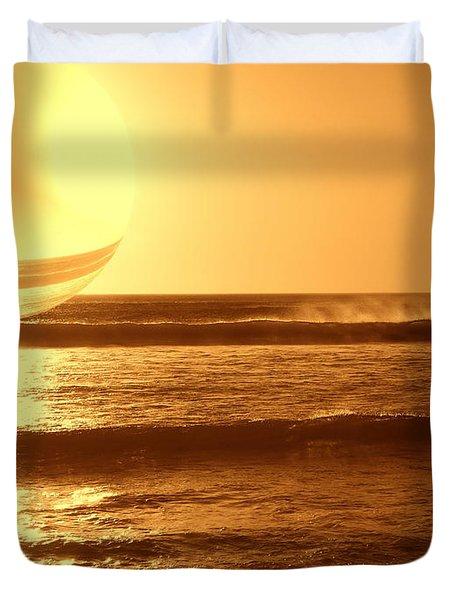 Duvet Cover featuring the photograph Beach Planet Series II by Beto Machado