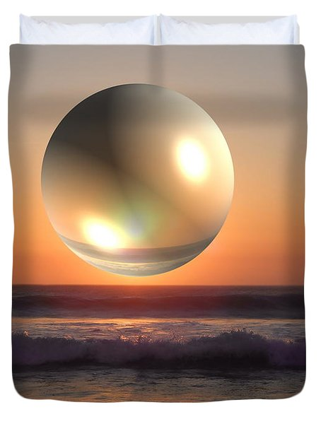 Beach Planet Series Iv Duvet Cover