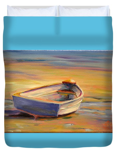 Beach Puddles Duvet Cover