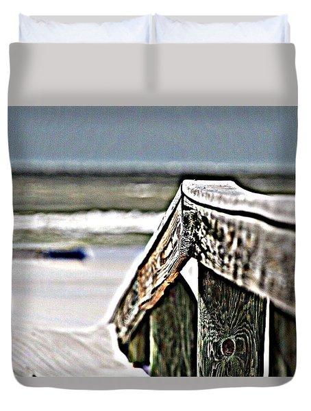 Beach Rail Duvet Cover