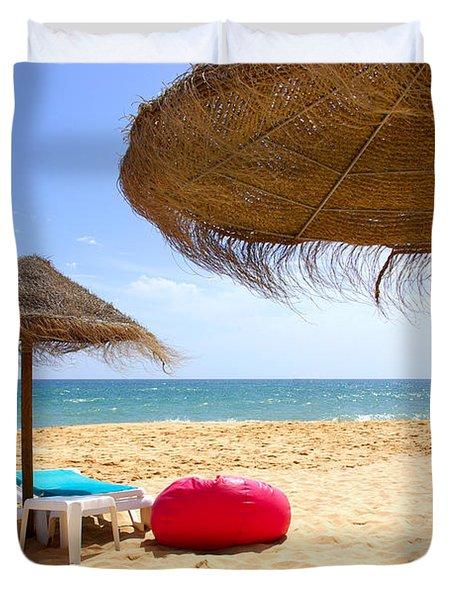 Beach Relaxing Duvet Cover by Carlos Caetano