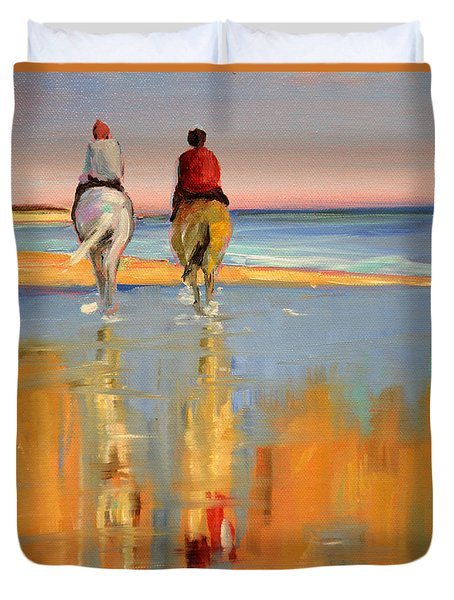 Beach Riders Duvet Cover