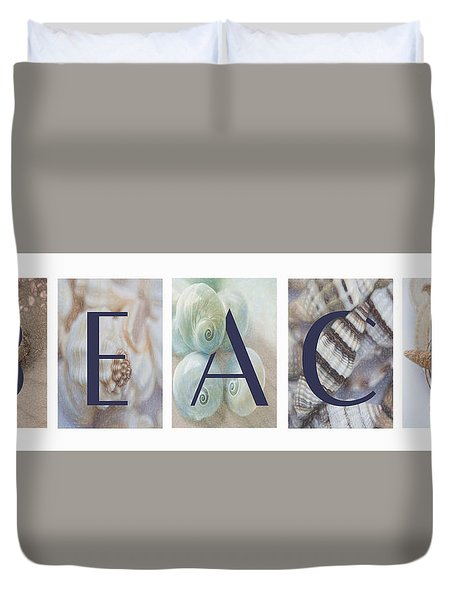 Duvet Cover featuring the photograph Beach by Robin-Lee Vieira
