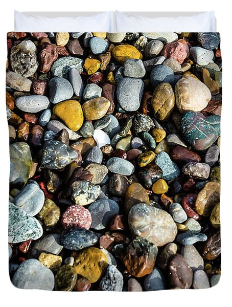 Beach Rocks Duvet Cover