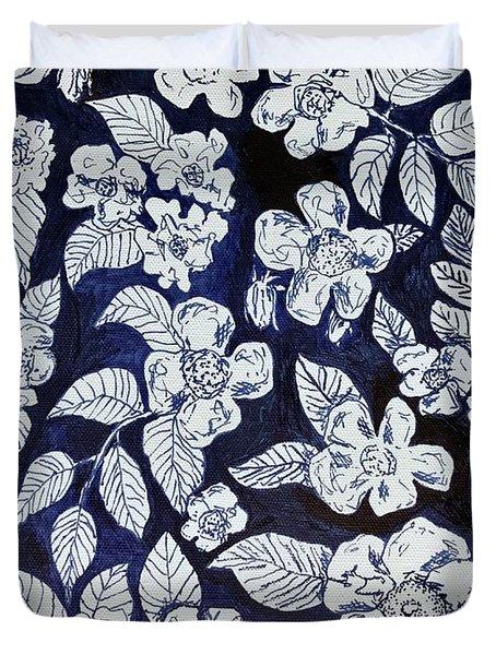 Beach Rose Pattern Duvet Cover