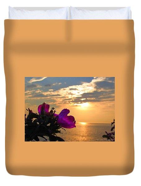 Beach Roses Duvet Cover