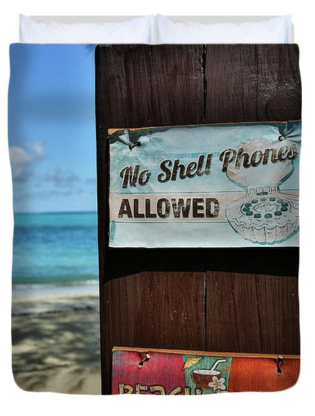 Beach Rules Duvet Cover
