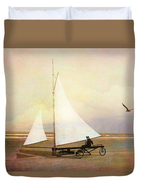 Beach Sailing Duvet Cover