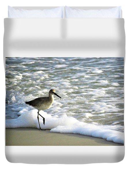 Beach Sandpiper Duvet Cover by Kathy Long