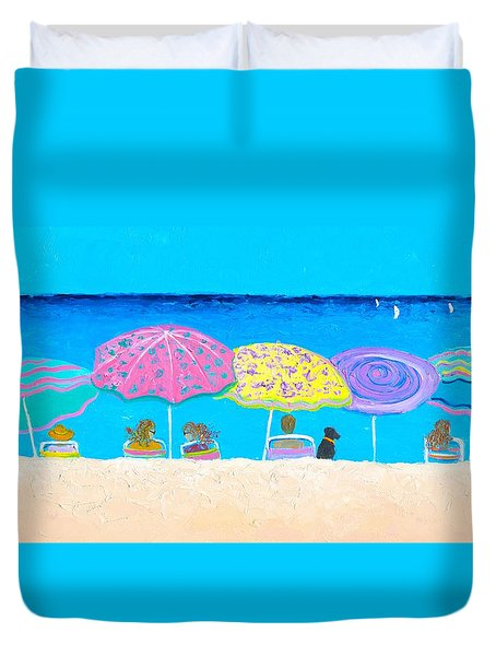 Beach Sands Perfect Tans Duvet Cover