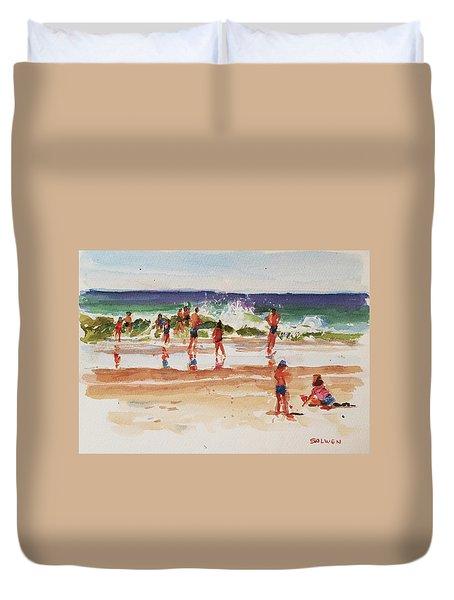 Beach Scene, Afternoon Duvet Cover by Peter Salwen