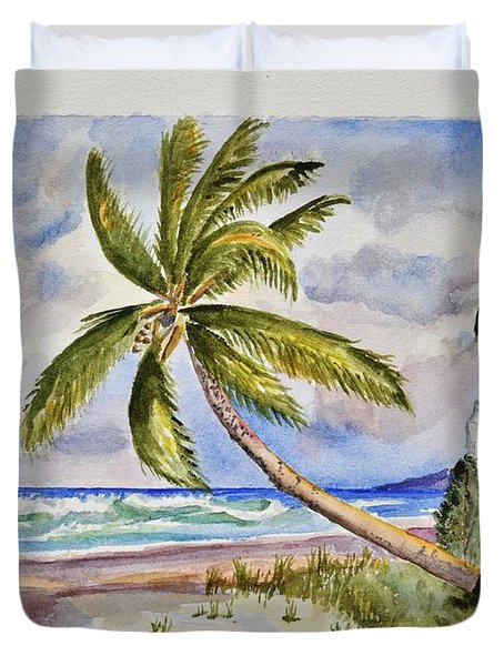 Beach Scene I Duvet Cover