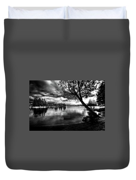 Duvet Cover featuring the photograph Beach Silhouette by David Patterson
