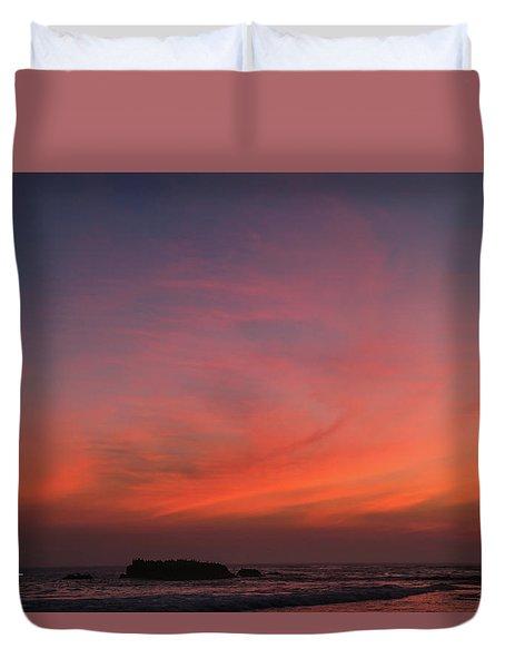 Beach Sky Blaze Duvet Cover