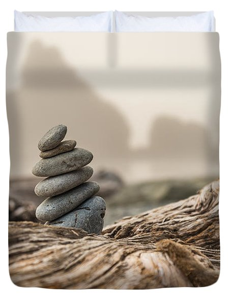 Beach Stack Duvet Cover by Kristopher Schoenleber