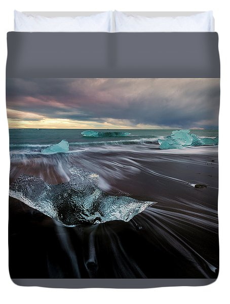 Duvet Cover featuring the photograph Beach Stranded by Allen Biedrzycki