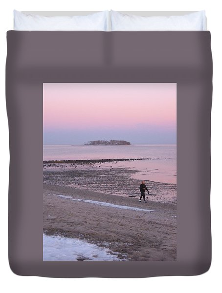 Beach Stroll Duvet Cover