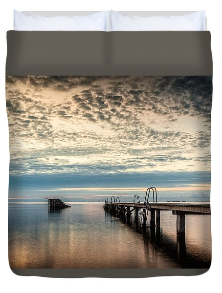 Duvet Cover featuring the photograph Beach Sunrise I by Stefan Nielsen