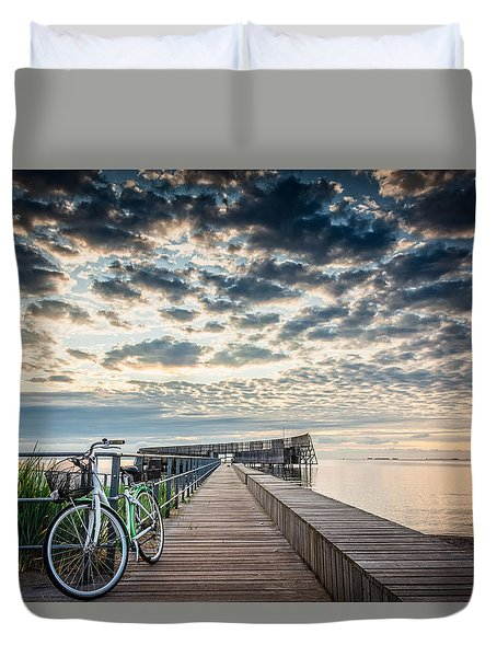 Duvet Cover featuring the photograph Beach Sunrise II by Stefan Nielsen