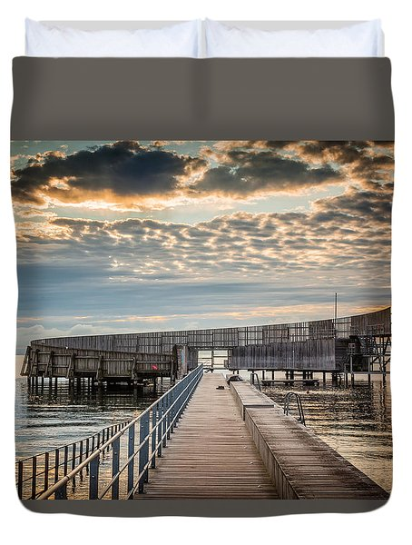 Duvet Cover featuring the photograph Beach Sunrise IIi by Stefan Nielsen