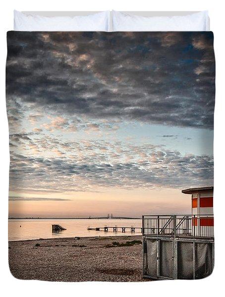 Beach Sunrise Iv Duvet Cover