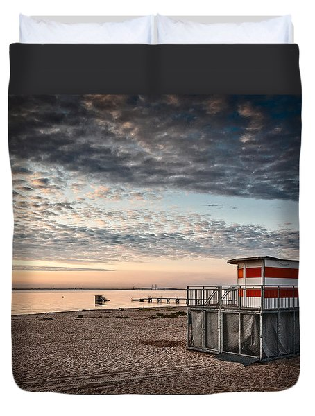 Duvet Cover featuring the photograph Beach Sunrise Iv by Stefan Nielsen