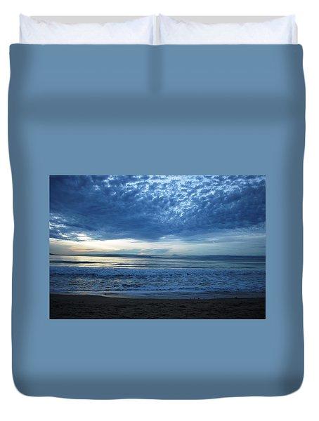 Beach Sunset - Blue Clouds Duvet Cover