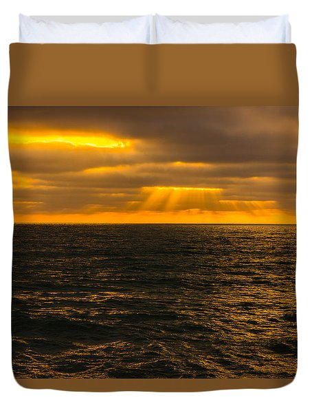 Beach Sunset Delmar/torrey Pines San Diego California Img 2 Duvet Cover