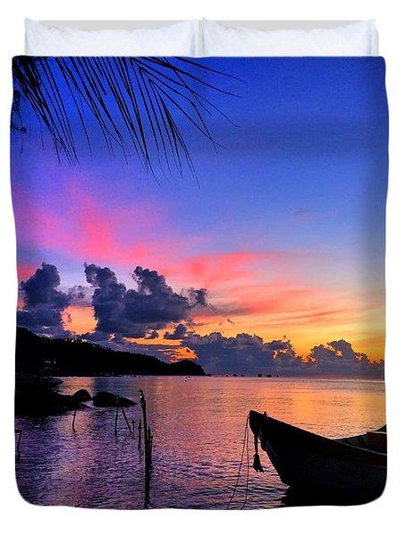 Beach Sunset Duvet Cover