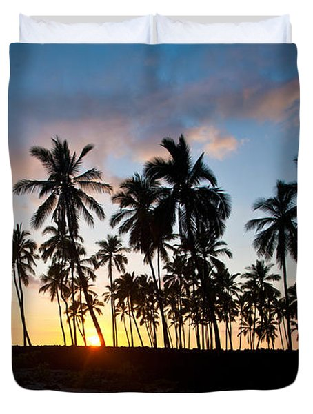 Beach Sunset Duvet Cover by Mike Reid