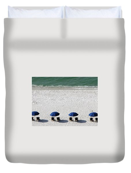 Duvet Cover featuring the photograph Beach Therapy 2 by Marie Hicks