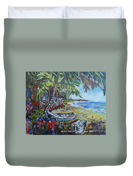 Beach Time Duvet Cover