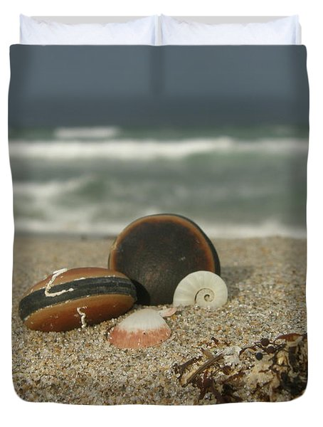 Beach Treasures 1 Duvet Cover by Kimberly Mohlenhoff