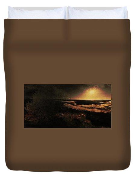 Duvet Cover featuring the digital art Beach Tree by Richard Ricci