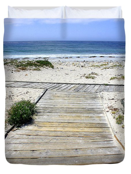 Beach Walk Duvet Cover