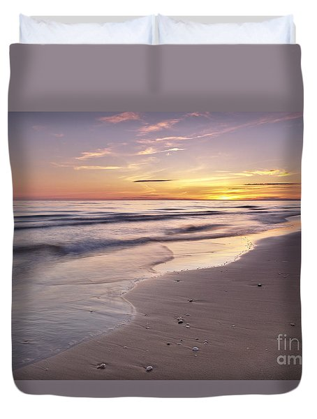 Beach Welcoming Twilight Duvet Cover