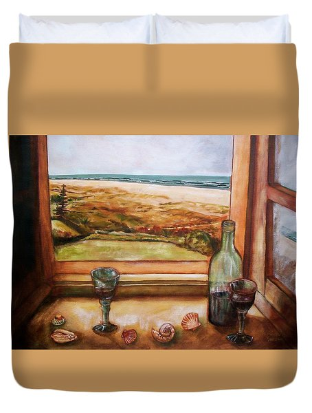 Beach Window Duvet Cover